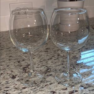Two small wine glasses
